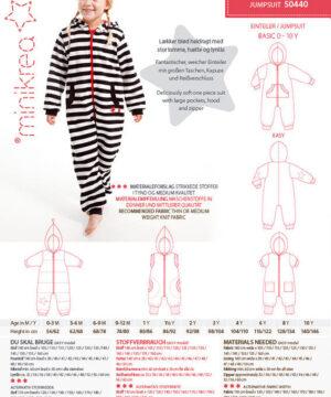 Jumpsuit, str. 0-10 år - Minikrea 50440 - Minikrea