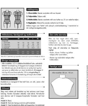 Slag med detaljer, str. XS-XL - Onion 6010 - Onion
