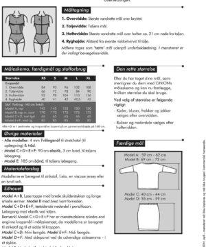 Toppe & nederdele, til strikstof, str. XS-XL - Onion 6019 - Onion