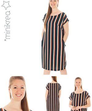 Løs midi kjole str. 34-50 – minikrea 70060 - Minikrea
