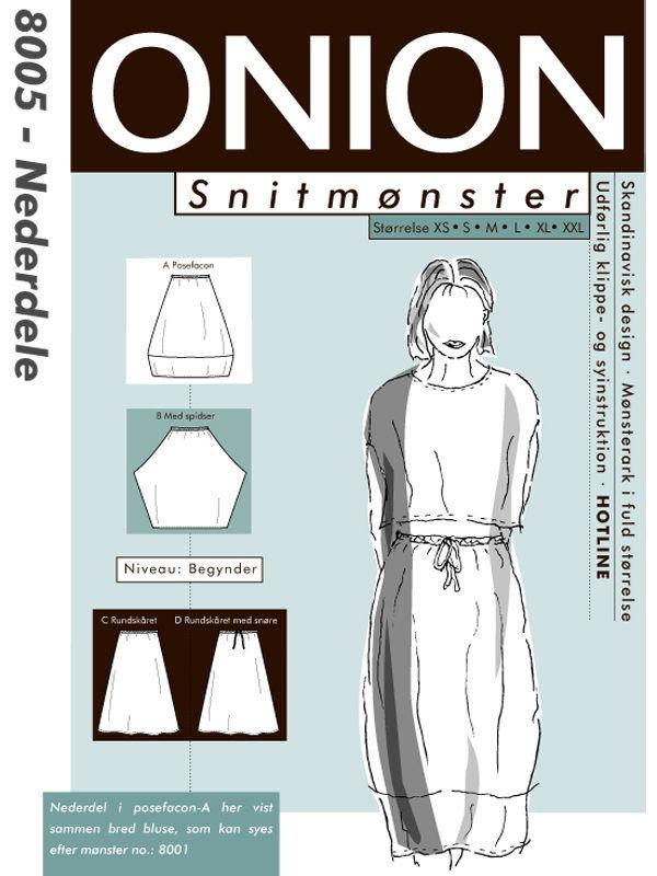 Nederdele, str. XS-XXL - Onion 8005 - Onion