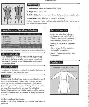 Skjortekjole med revers, til strikstof, str. XL-5XL - Onion 9002 - Onion