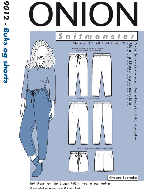 Buks og shorts, str. XL-5XL - Onion 9012