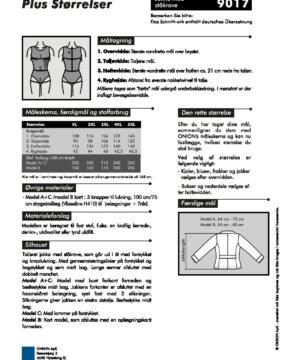 Jakke med ståkrave, str. XL-5XL - Onion 9017 - Onion