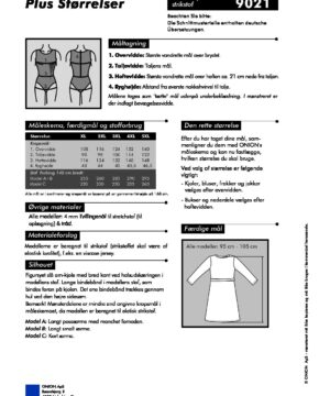 Slå om-kjole til strikstof, str.XL - 5XL - Onion 9021 - Onion