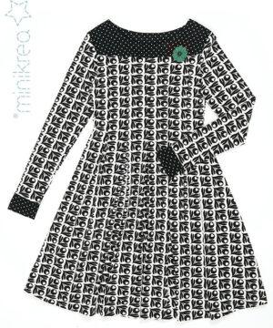 Kjole med læg, str. 34-50 - Minikrea 70046 - Minikrea