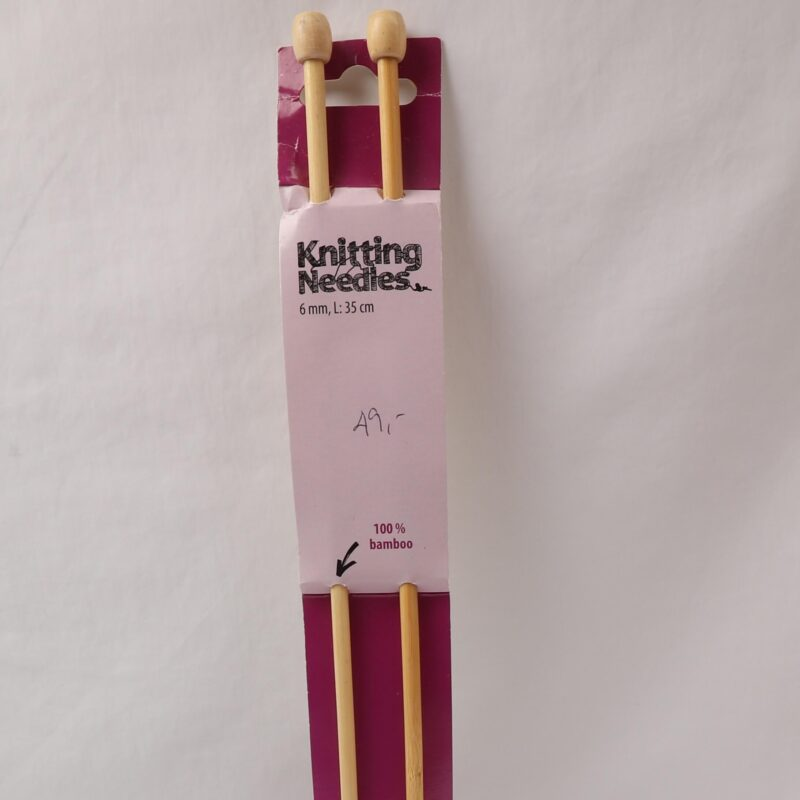 Strikkepind - Bambus 6 mm -