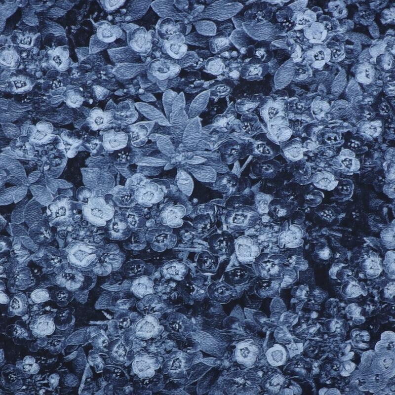 Blå blomster - Patchwork -