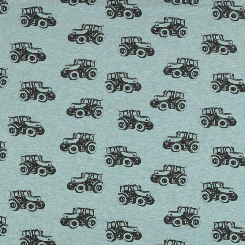 Lys petrol med sort traktor - Jersey -