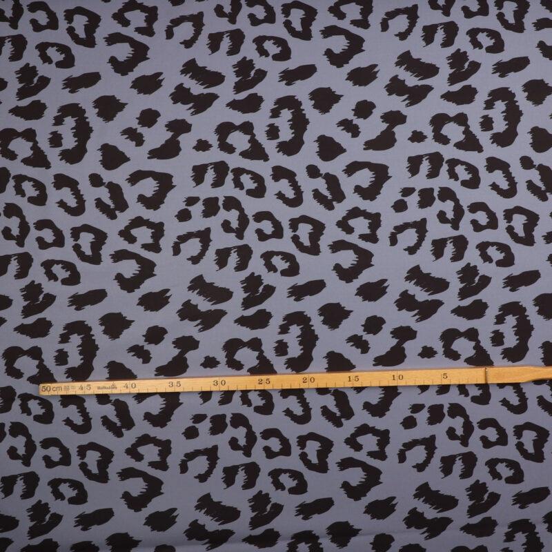 Sort mønster på blålilla - Softshell -