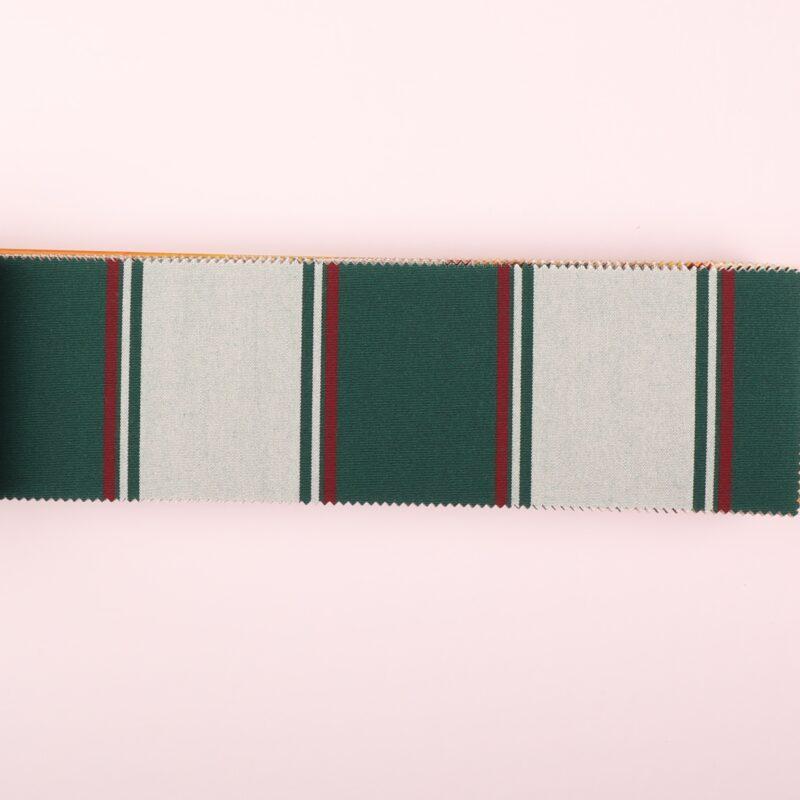 Med grønne striber - Markisestof - Info mangler