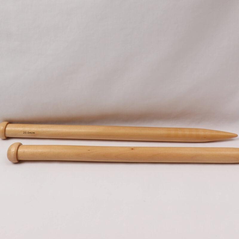 Strikkepind - Træpind 20 mm -