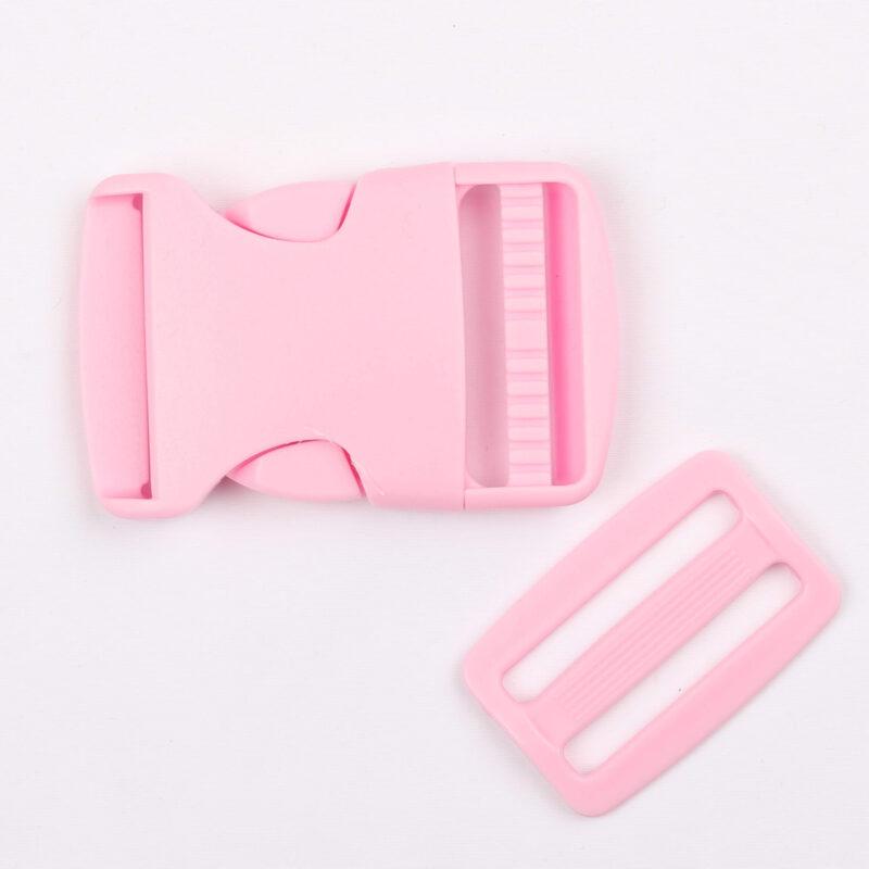 Klikspænde, 40 mm. lyserød -