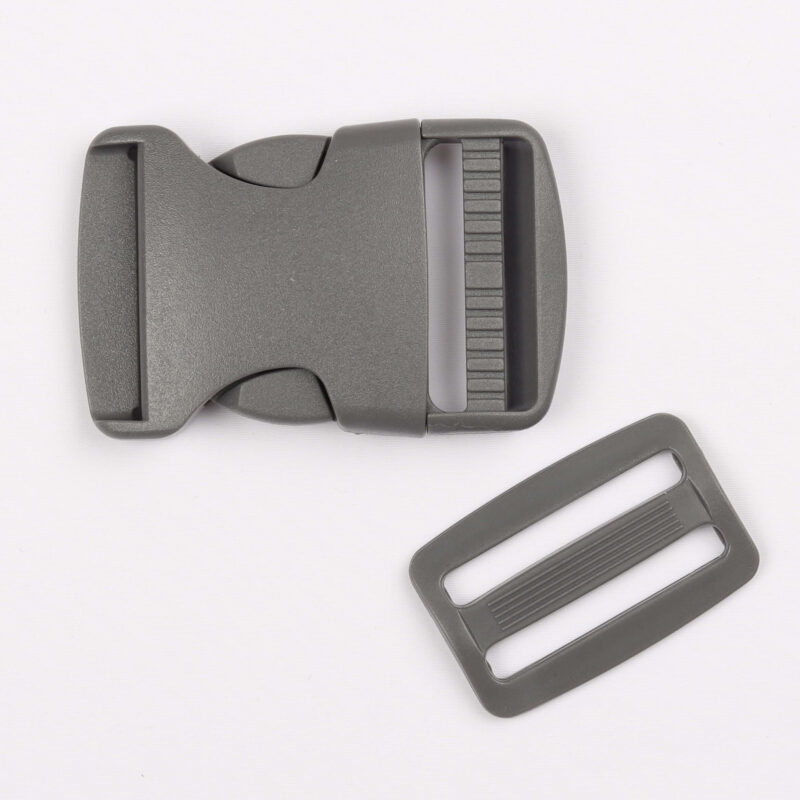Klikspænde, 40 mm. grå -