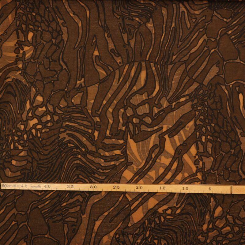 Mønster i brune nuancer - Polyester -