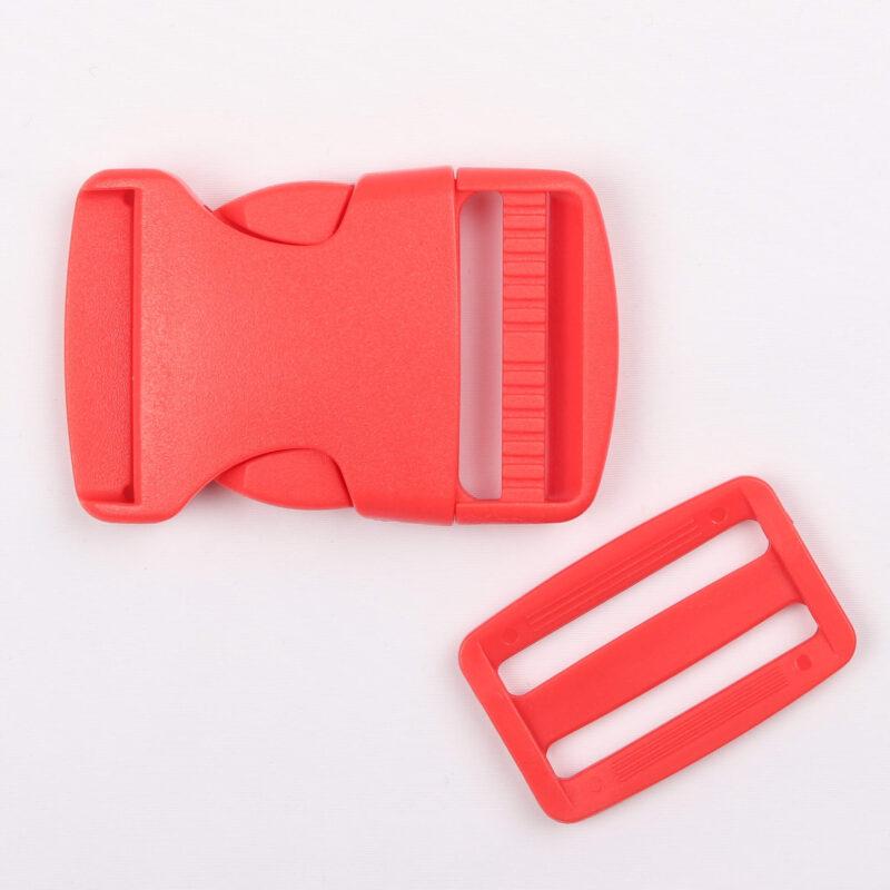 Klikspænde, 40 mm. rød -
