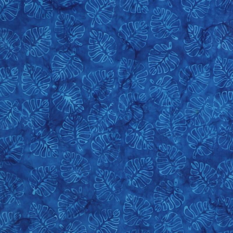 Bladmønster på koboltblå - Bali -