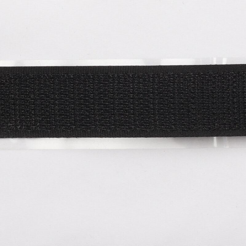 Sort - Selvklæbende gribebånd 20 mm, hook -