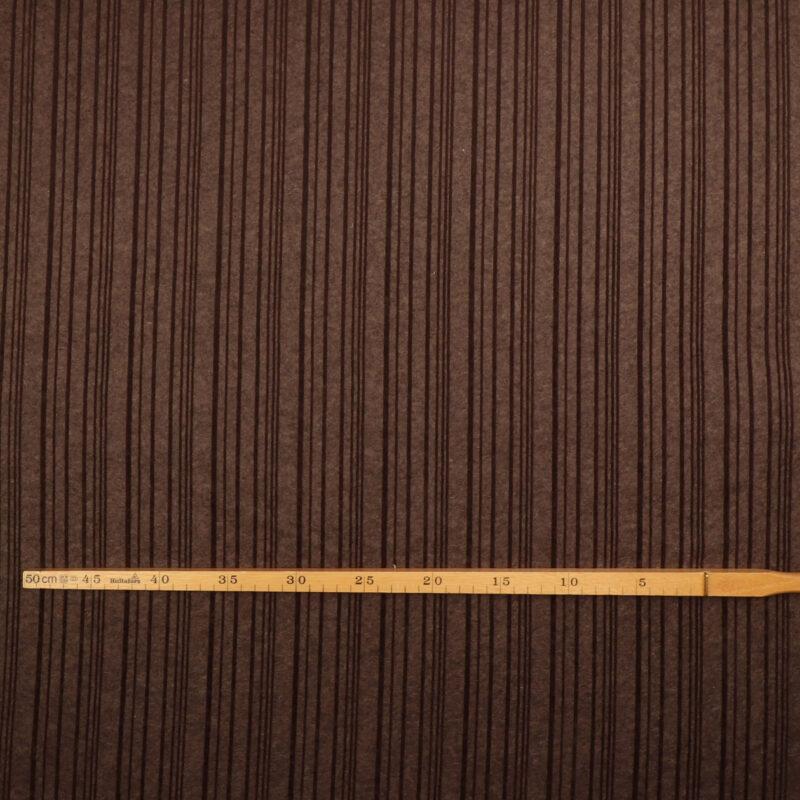 Mørkebrun og brun - Uld/polyester -