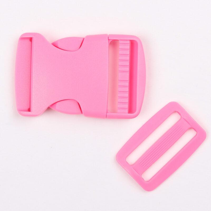 Klikspænde, 40 mm. pink -