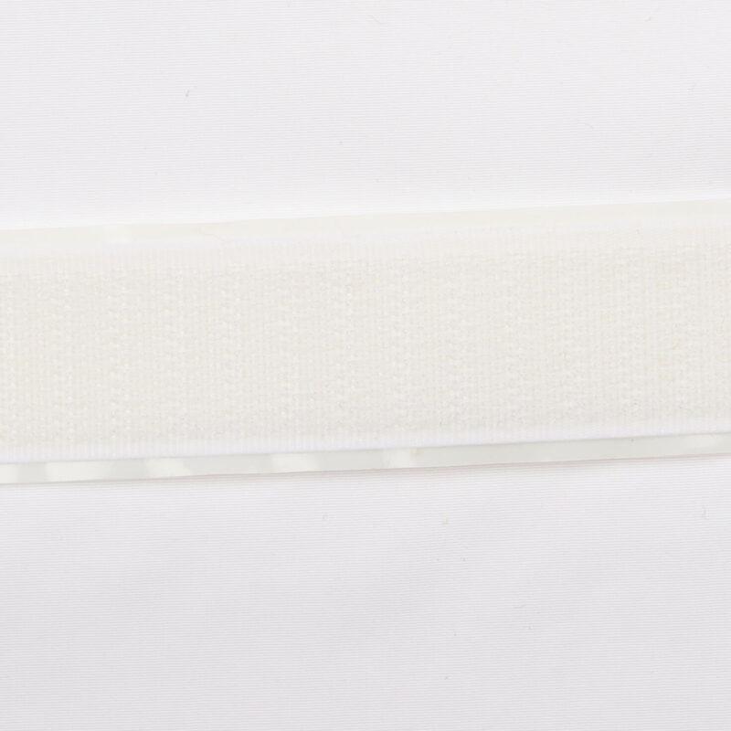 Hvid - Selvklæbende gribebånd 20 mm, hook -
