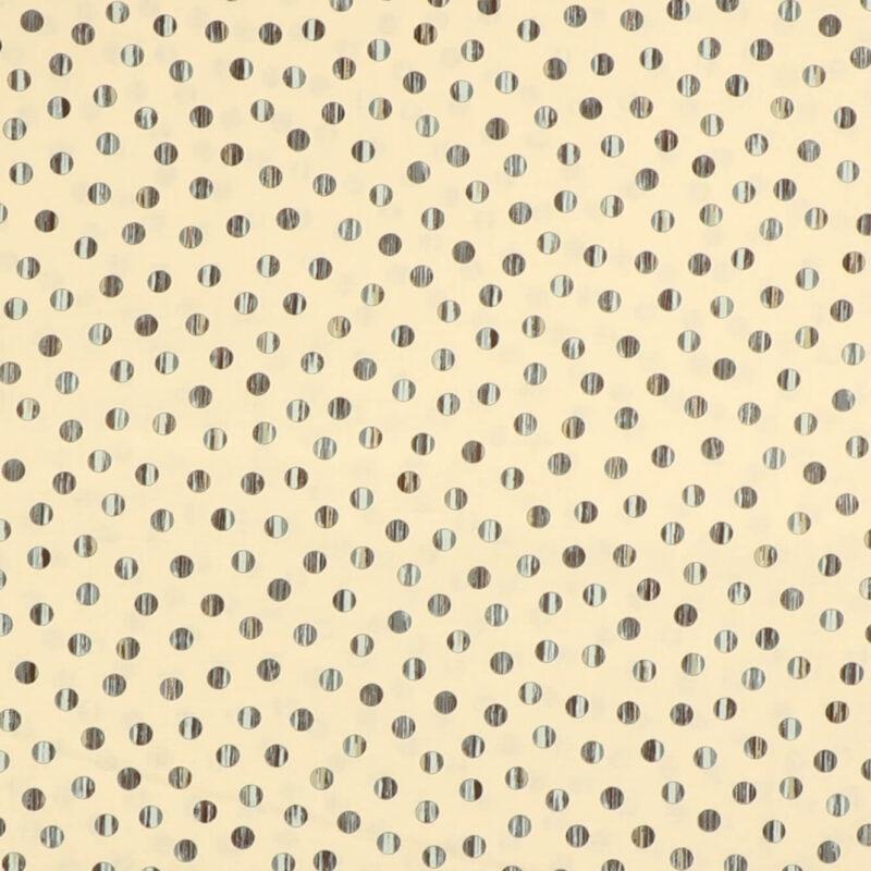 Patchwork - Stålgrå prikker på cremefarvet bund -