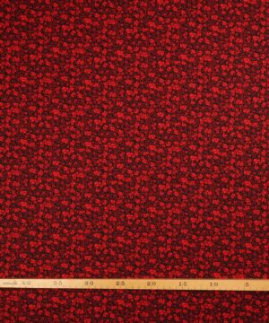 Sort bundfarve med rødt mønster - Patchwork -