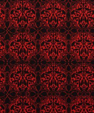 Sort og rødt mønster - Patchwork -