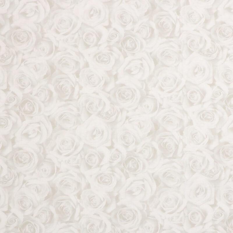 Roser i lyse grå nuancer - Patchwork -