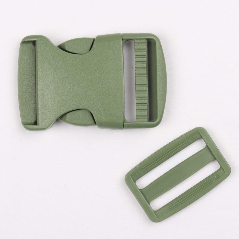 Klikspænde, 40 mm. armygrøn -