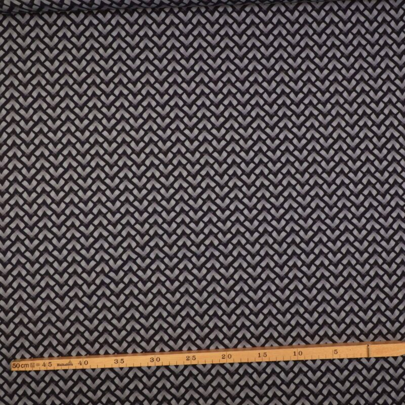 Marineblå og gråt mønster - Jersey -