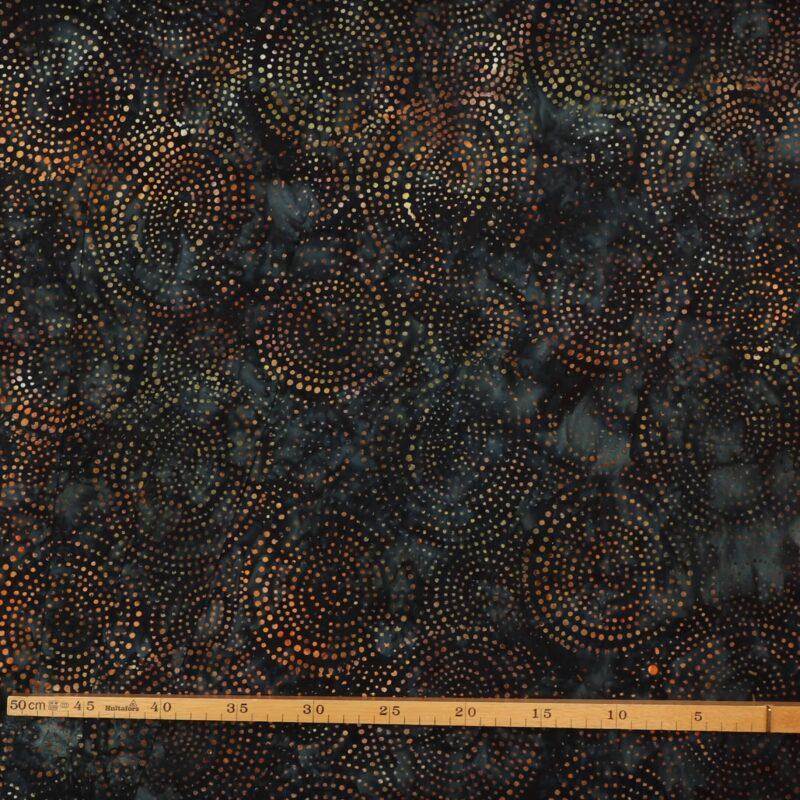 Gyldne cirkler på blåsort/grå - Bali -