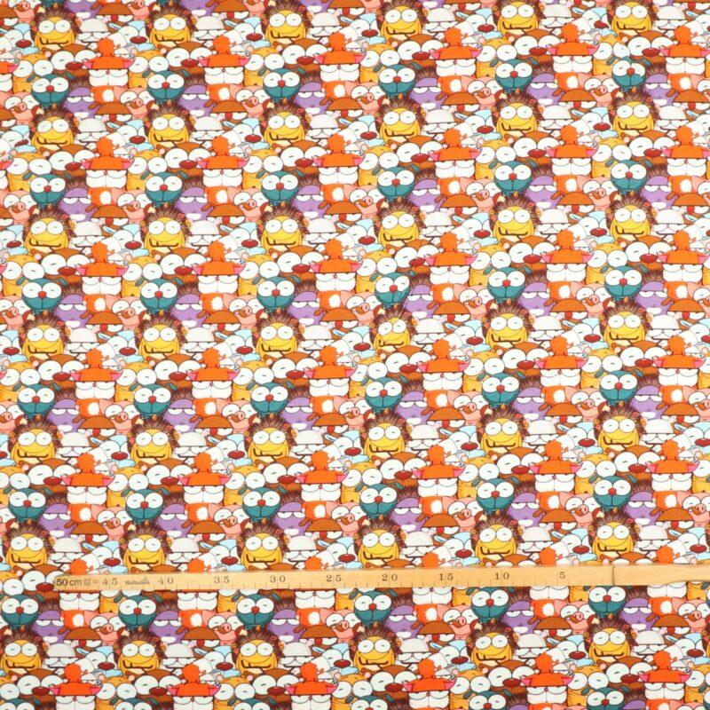 Multifarvet figurer - Jersey -