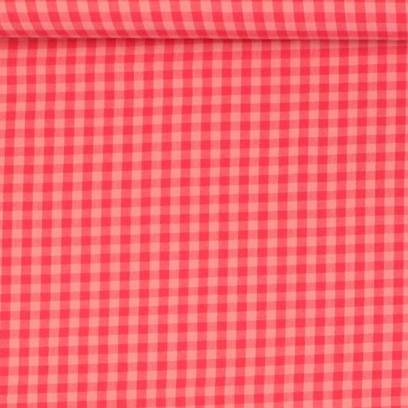 7x7 mm Tern, pink/lyserød - Bomuld - Info mangler