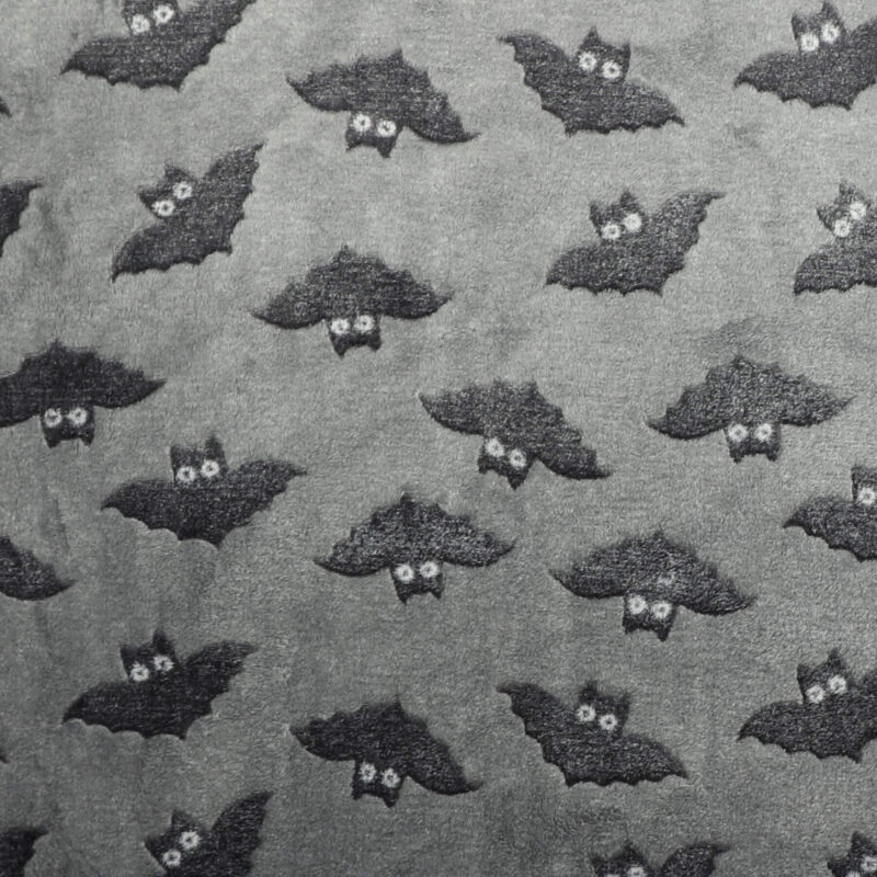 Flagermus på grå - Microfleece -