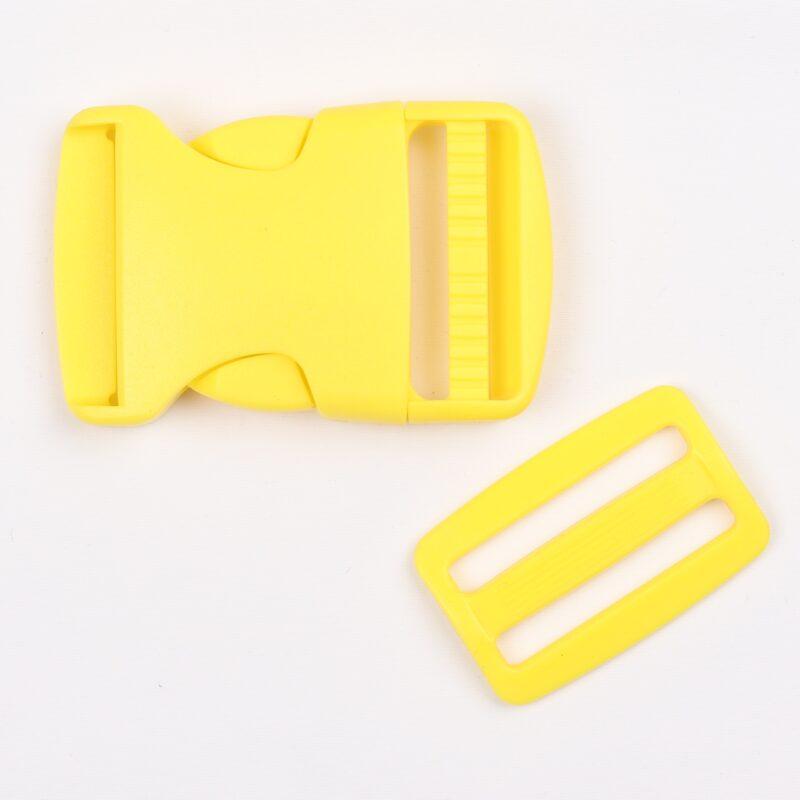 Klikspænde, 40 mm, gul -