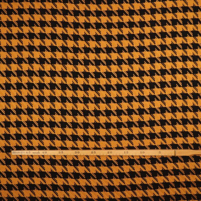Hanefjed i sort og karry - Polyester -