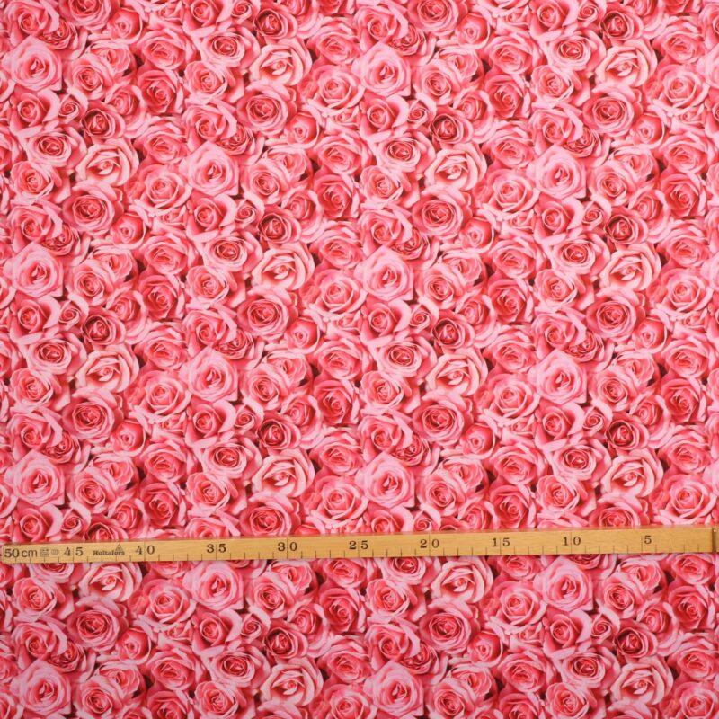 Roser i lyse pink/lyserøde nuancer - Patchwork - Info mangler
