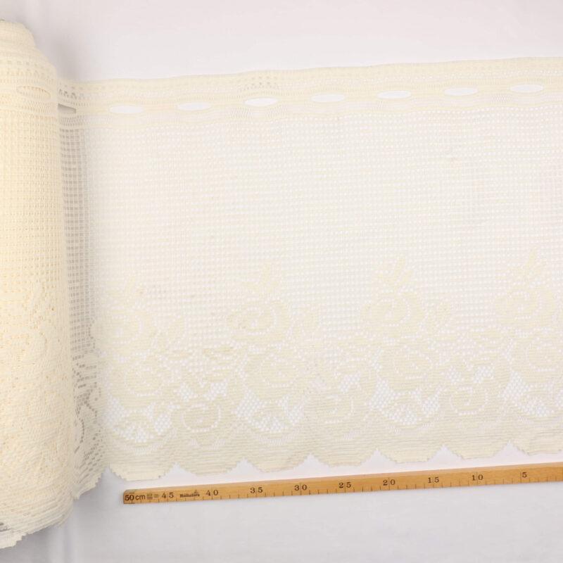 Cafégardin, flødefarvet - 45 cm høj -