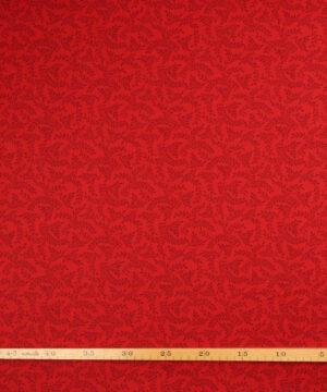 Mørk rød med snerler - Patchwork -