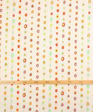 Patchwork - Farvet mønster på hvid -