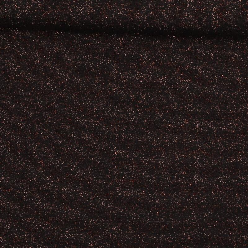 Rib med glimmer - sort m. kobber -