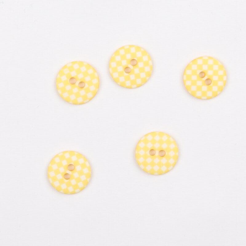 Gul m. hvid - 12 mm -