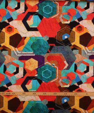 Abstrakt og farverigt mønster - Jersey -