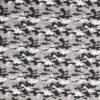 Camouflage i sort/hvid/grå - Let bomuld -