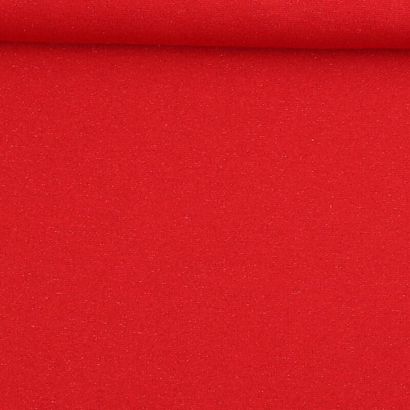 Rib med glimmer - rød m. rødt glimmer -