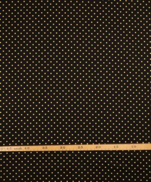 Prikker gul/sort - Patchwork -