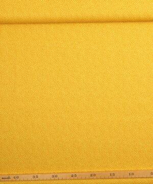 Tætte prikker, karry på gul - Let bomuld -