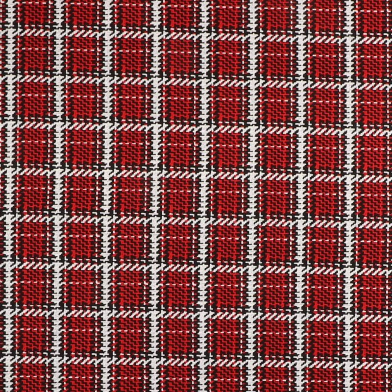 Sort, rød og lysegrå tern - Patchwork -