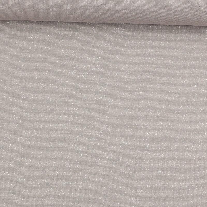 Rib med glimmer - lysegrå m. sølv -